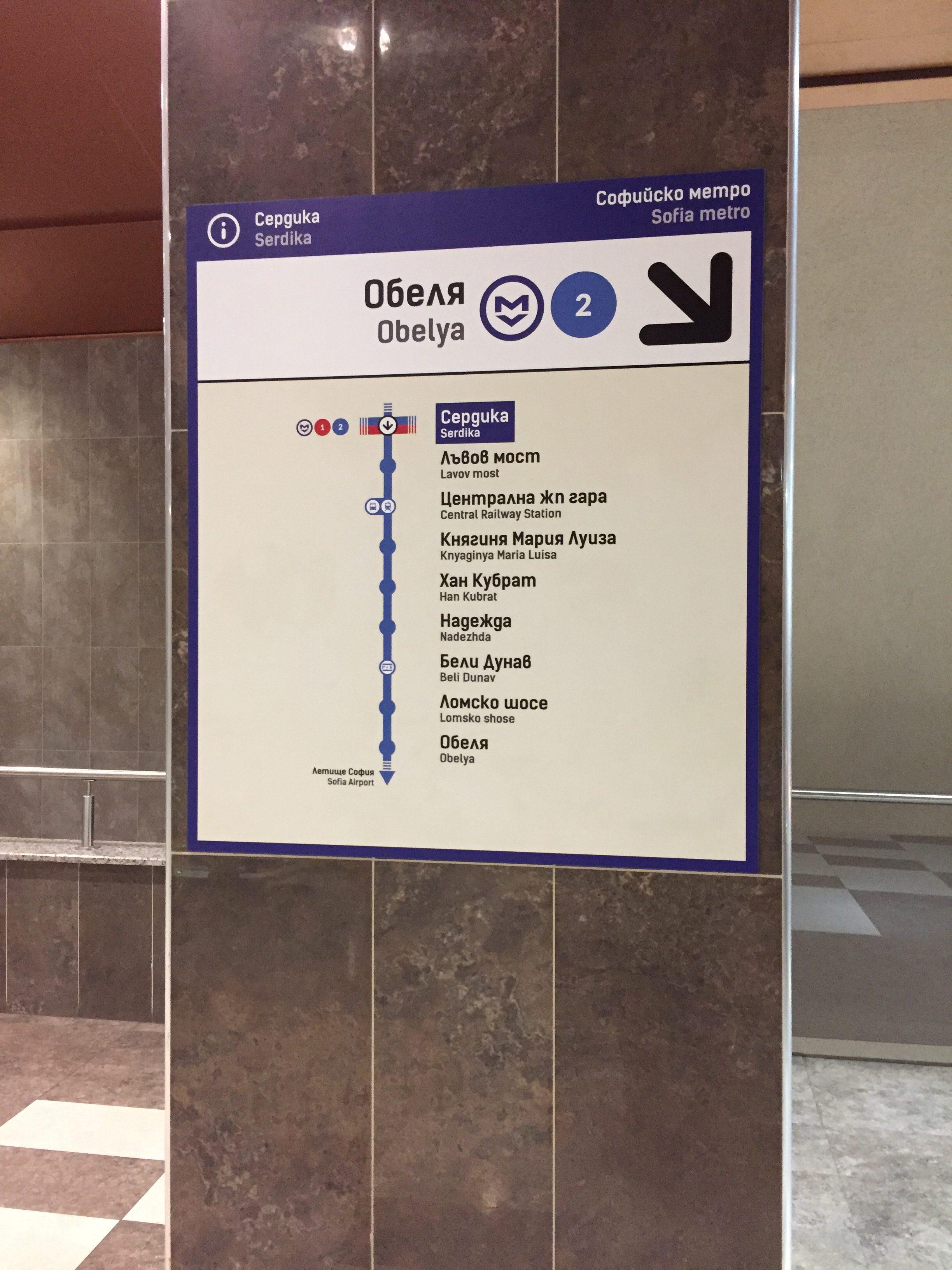 ソフィアメトロの路線図