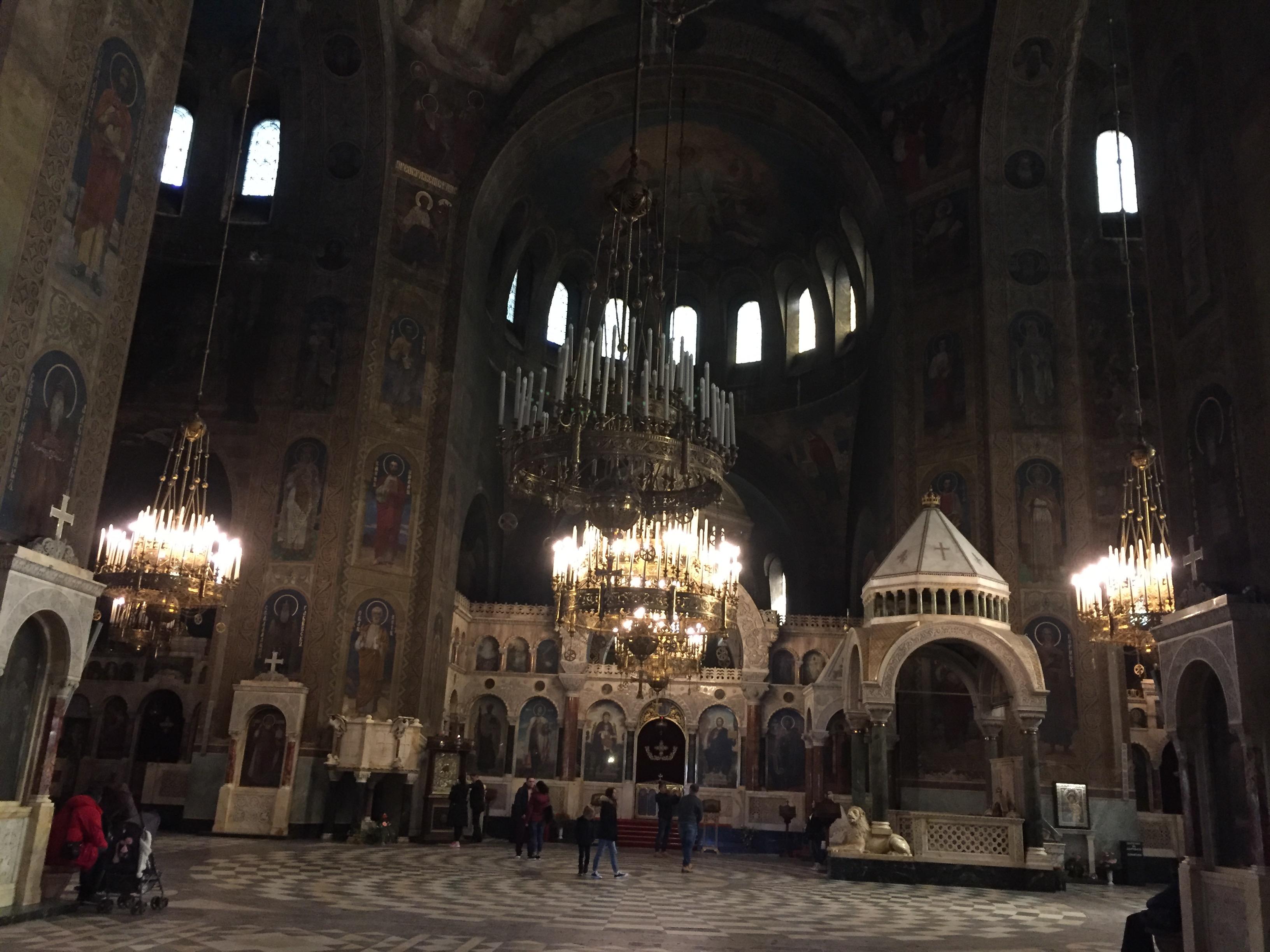 アレクサンドル・ネフスキー大聖堂の中