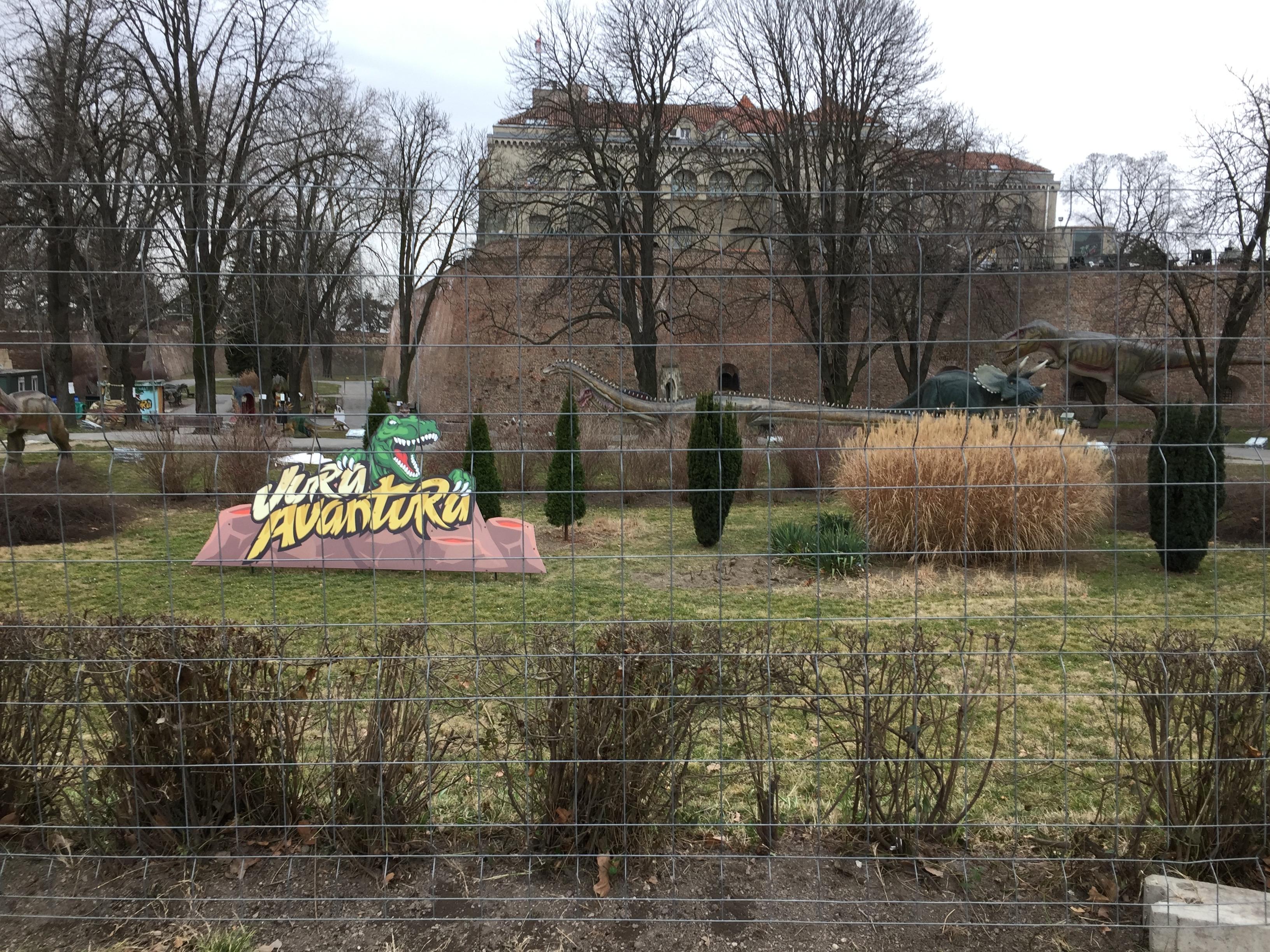 ベオグラード要塞の中にあった公園