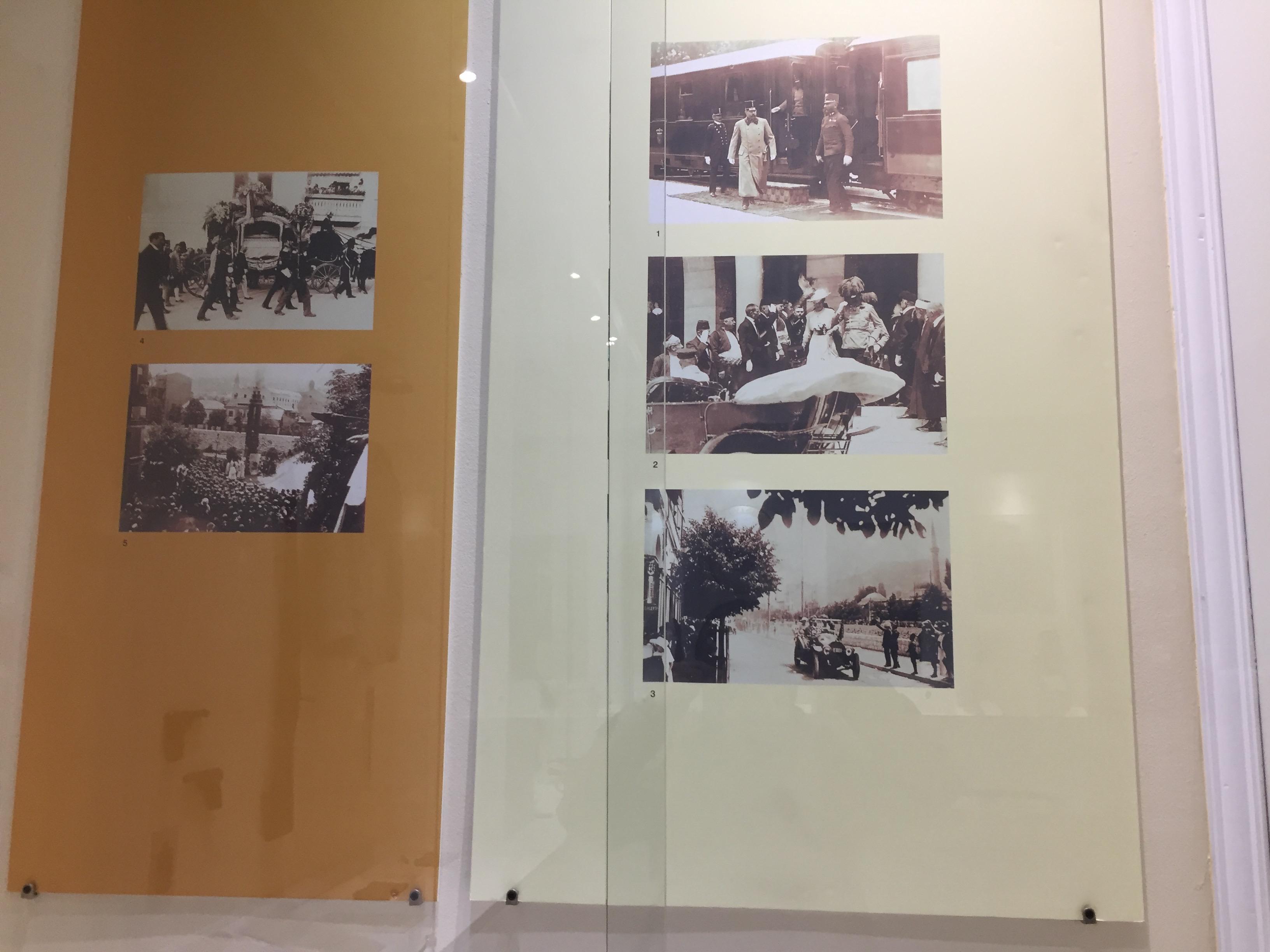 サラエボに来た時のフェルディナンド夫妻の写真