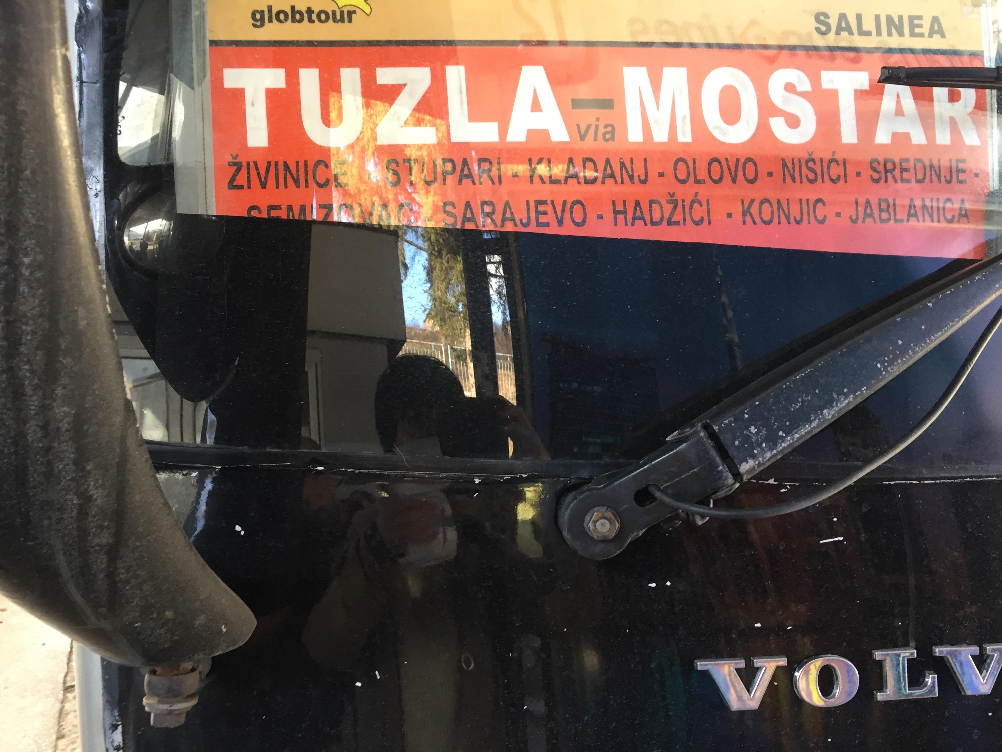 モスタル行きのバス
