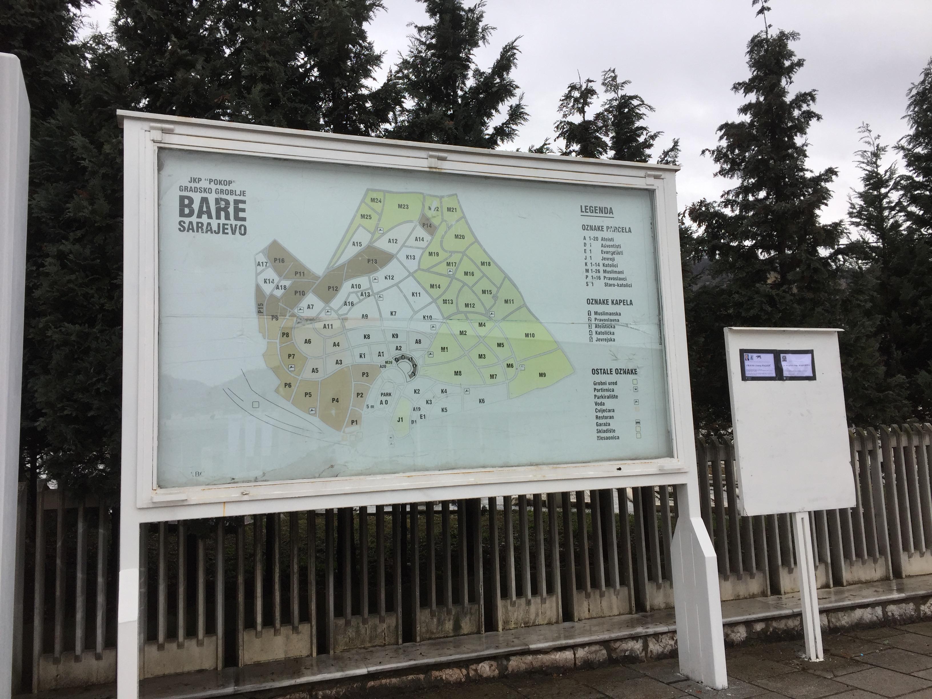 大墓地のマップ