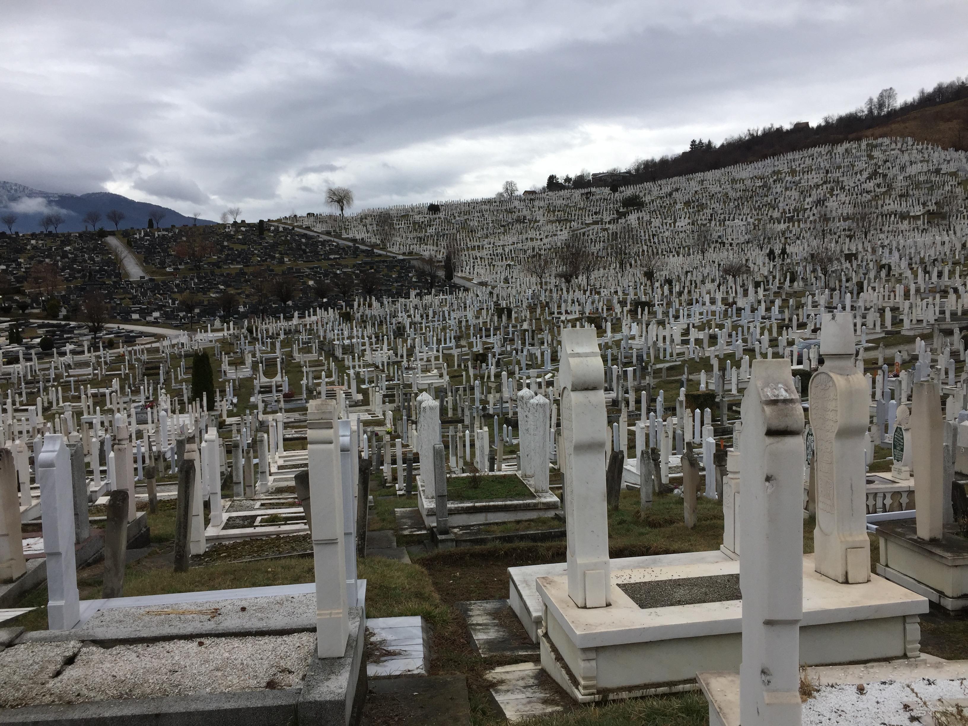 サラエボ郊外の大墓地2