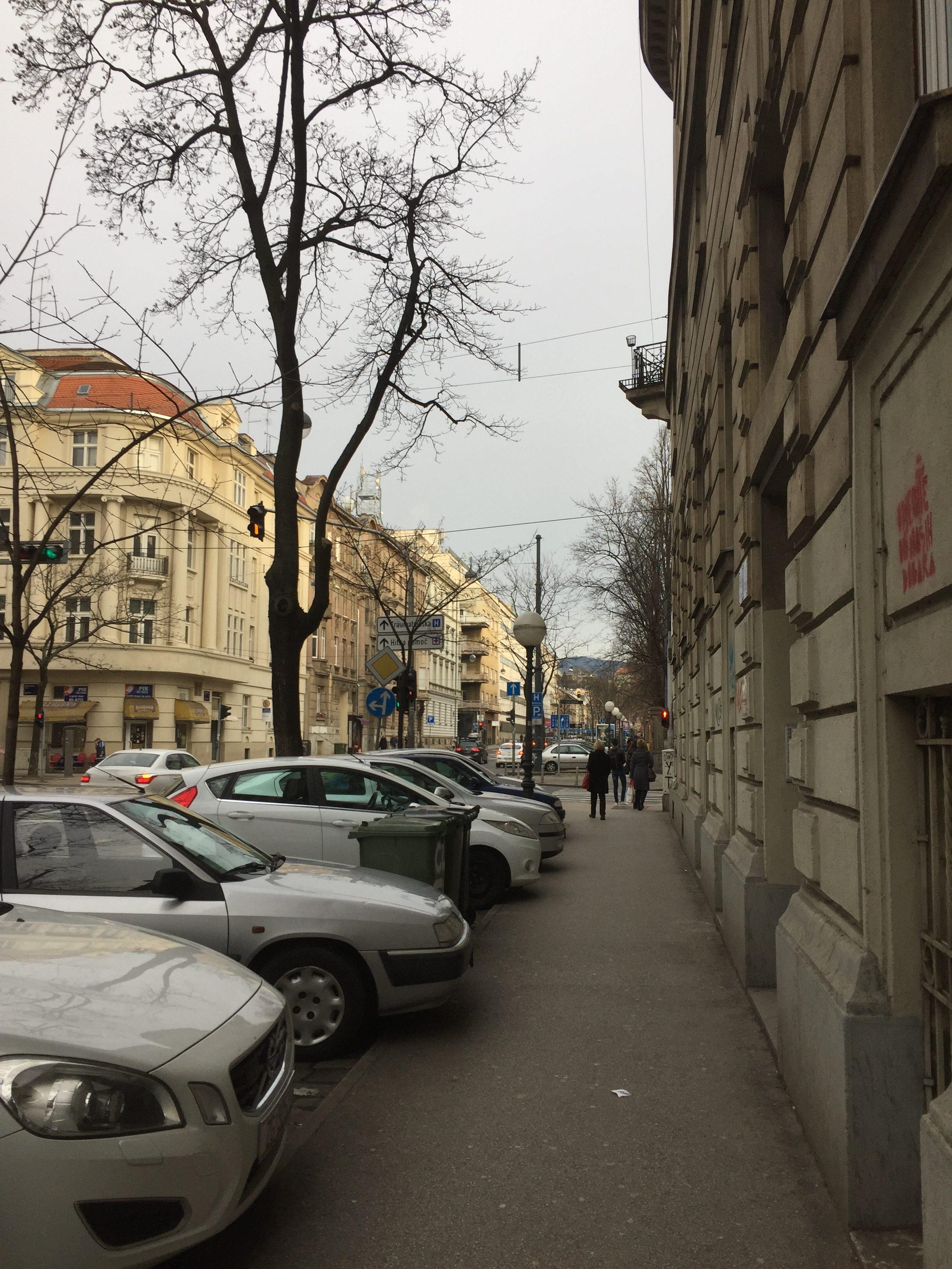 ザグレブの通りの一つ