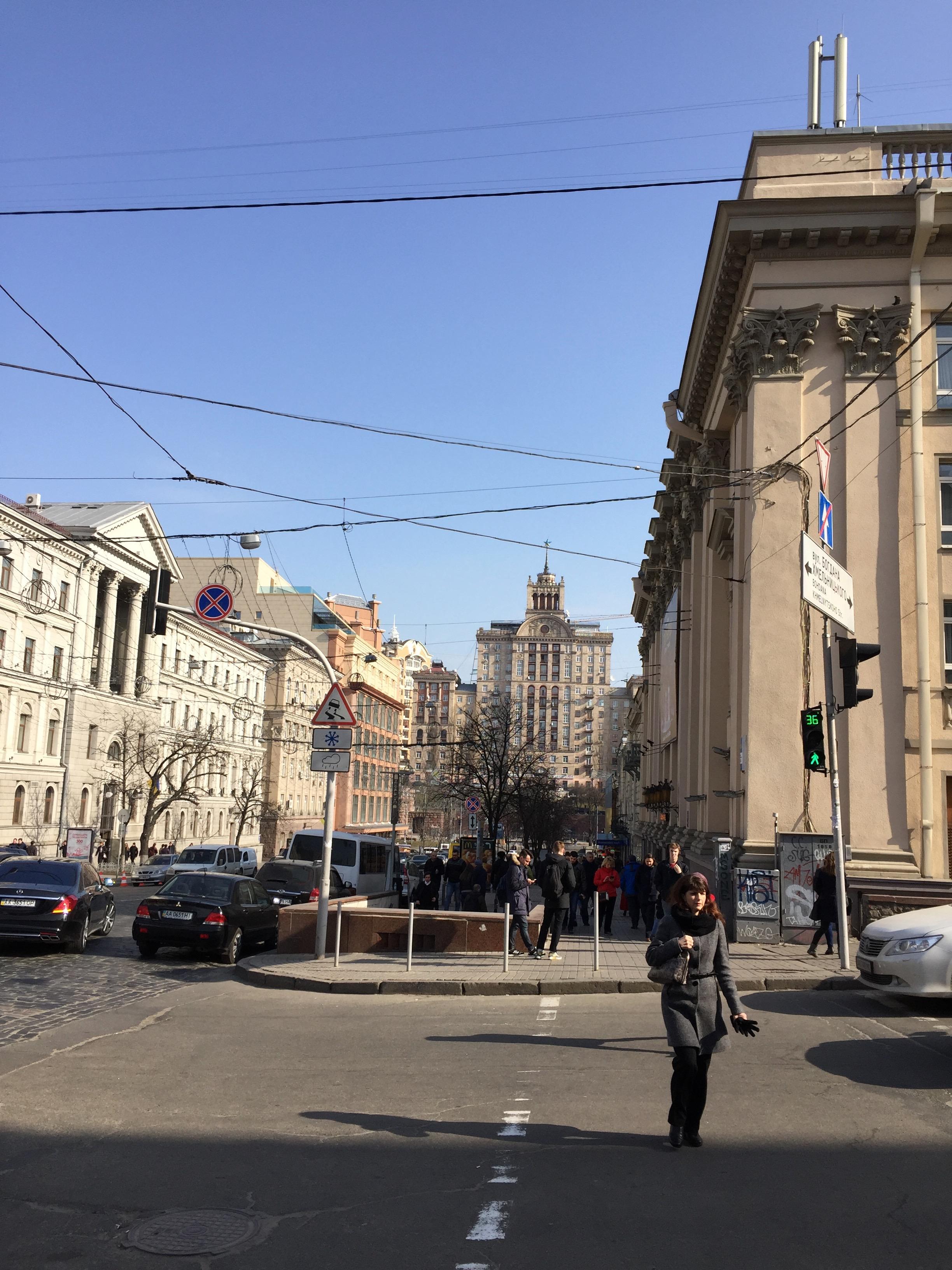 博物館周辺の通り