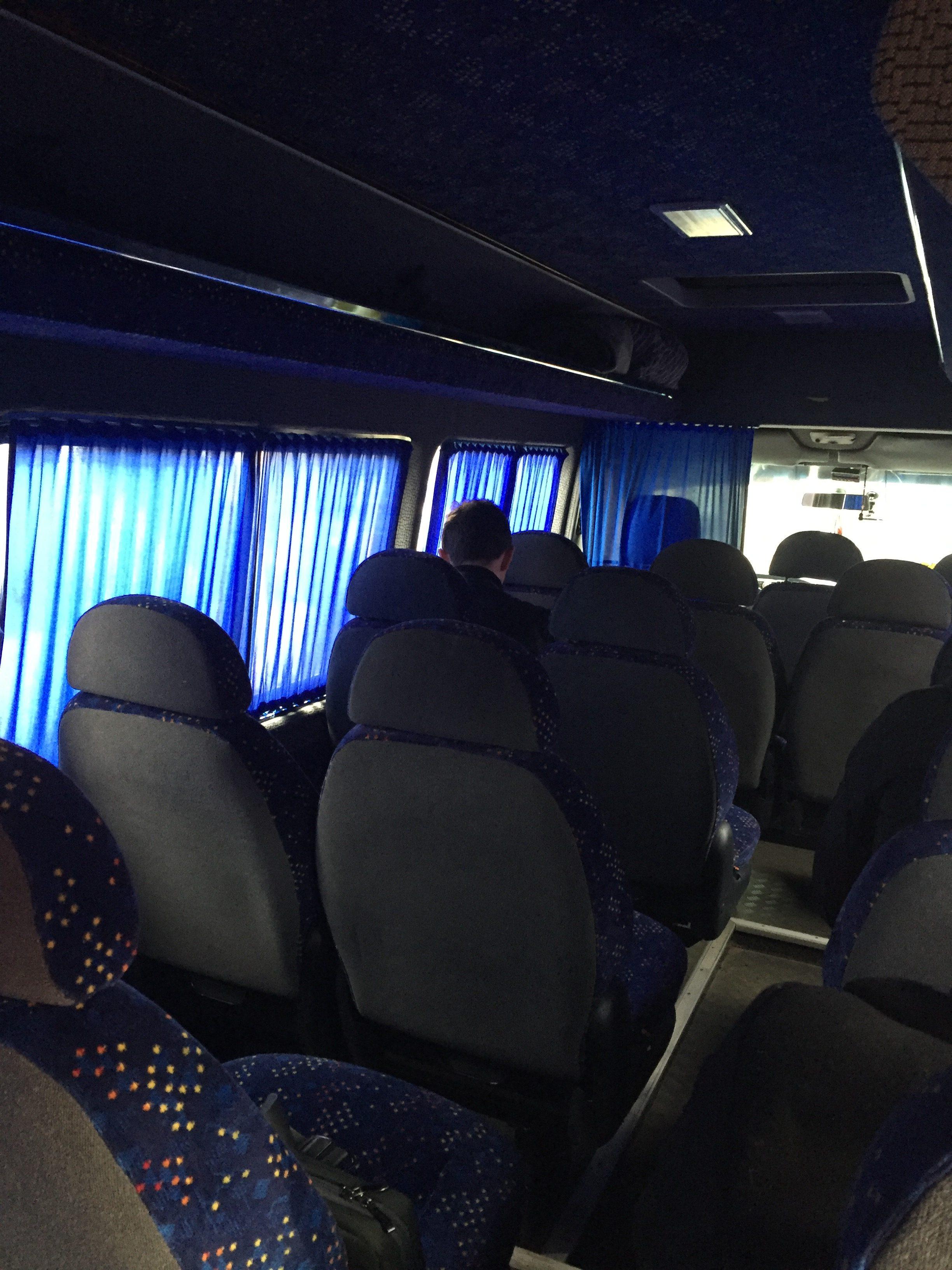 スムイ行きバスの中