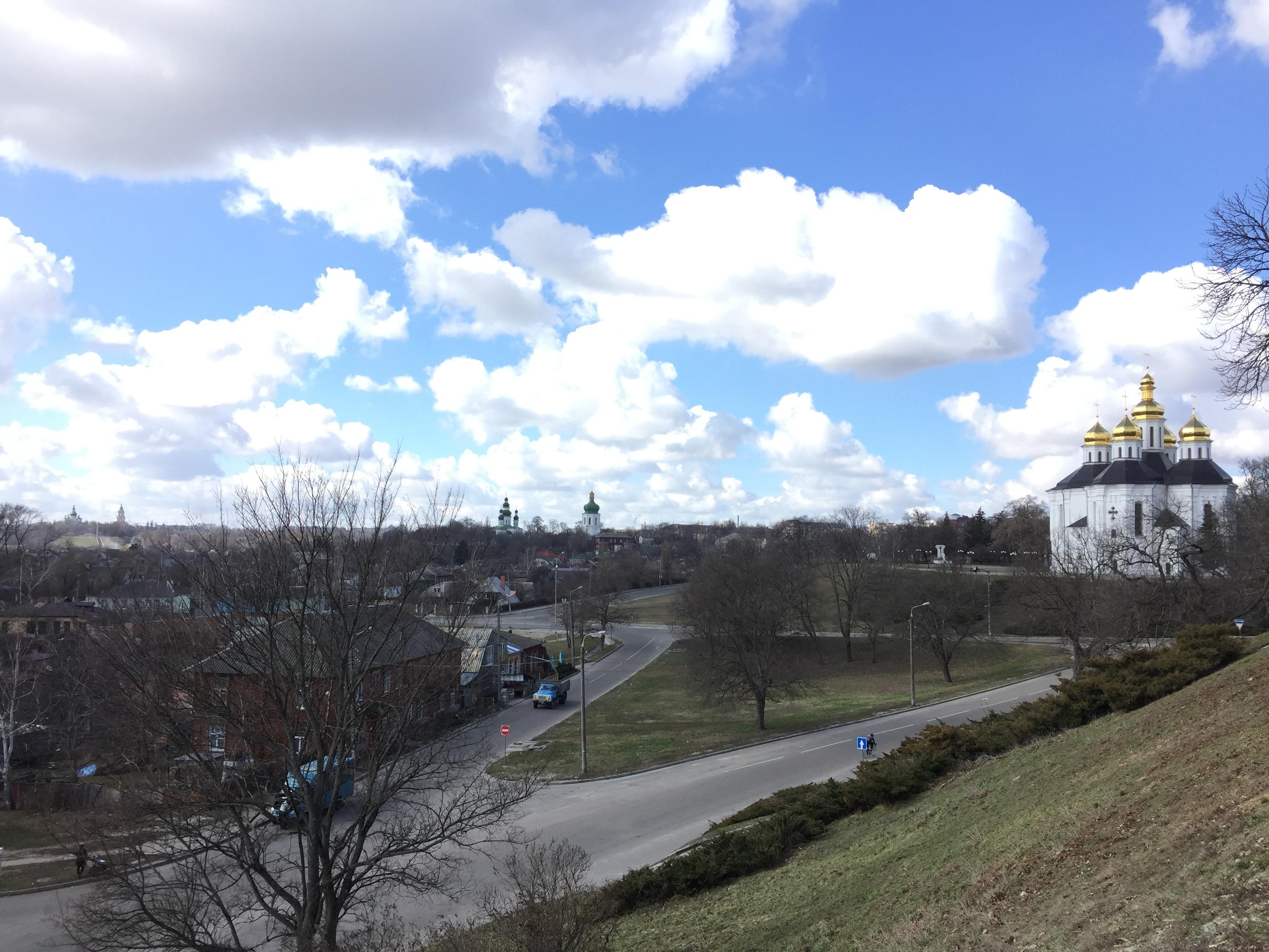 チェルニーヒウの景色を一望