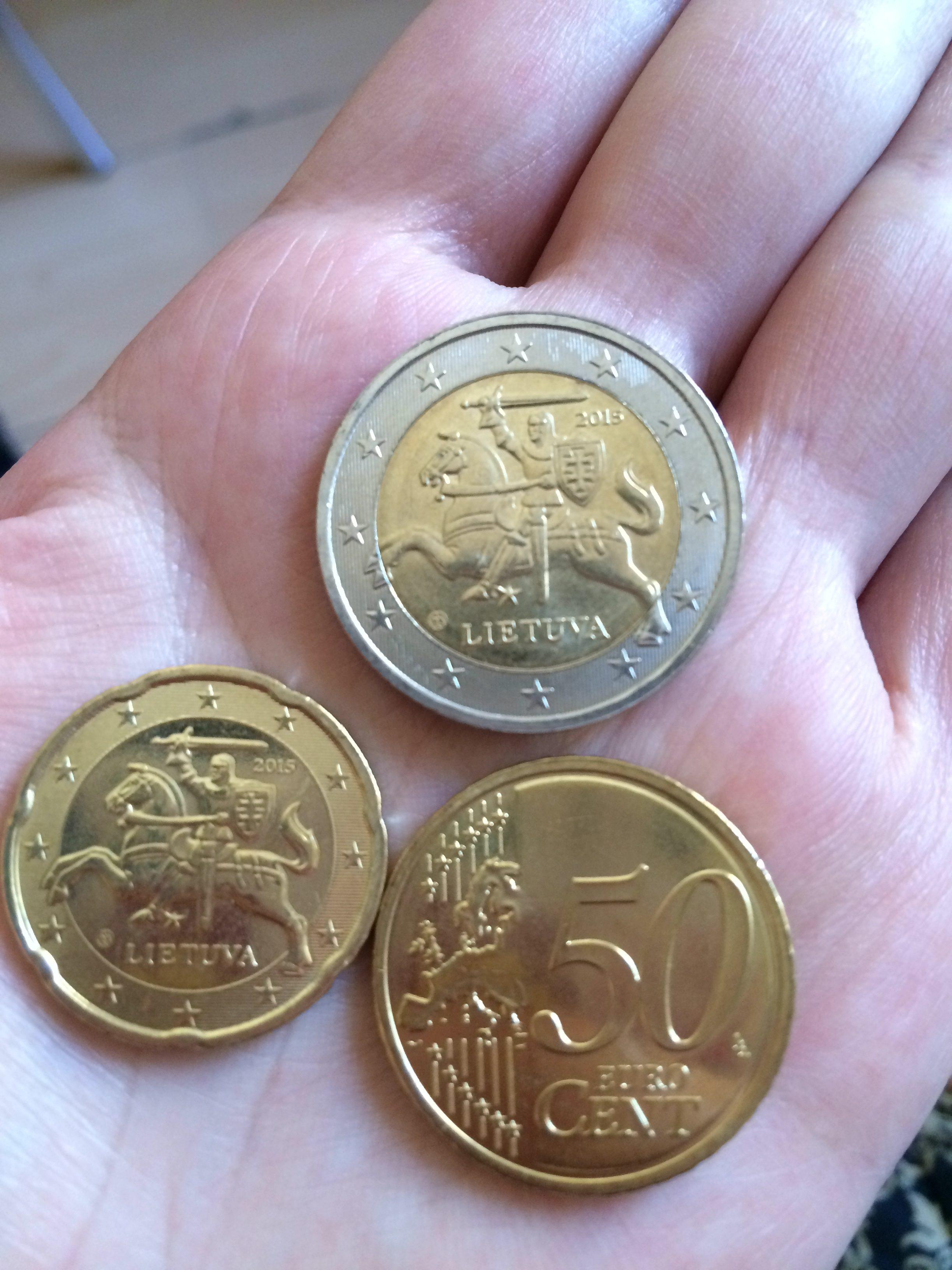 ユーロ導入後のリトアニアの硬貨