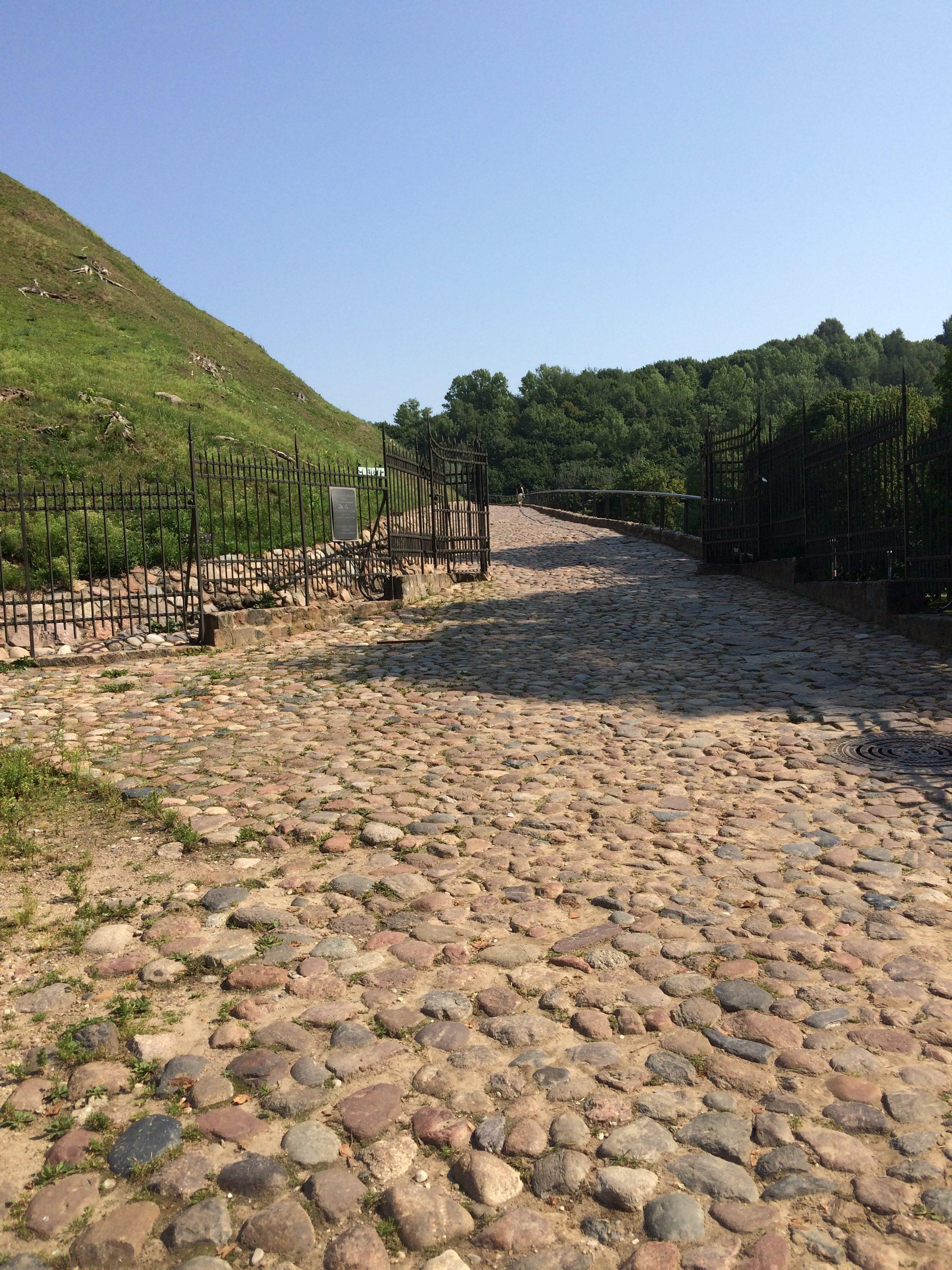 ゲティミナス城の入り口の門