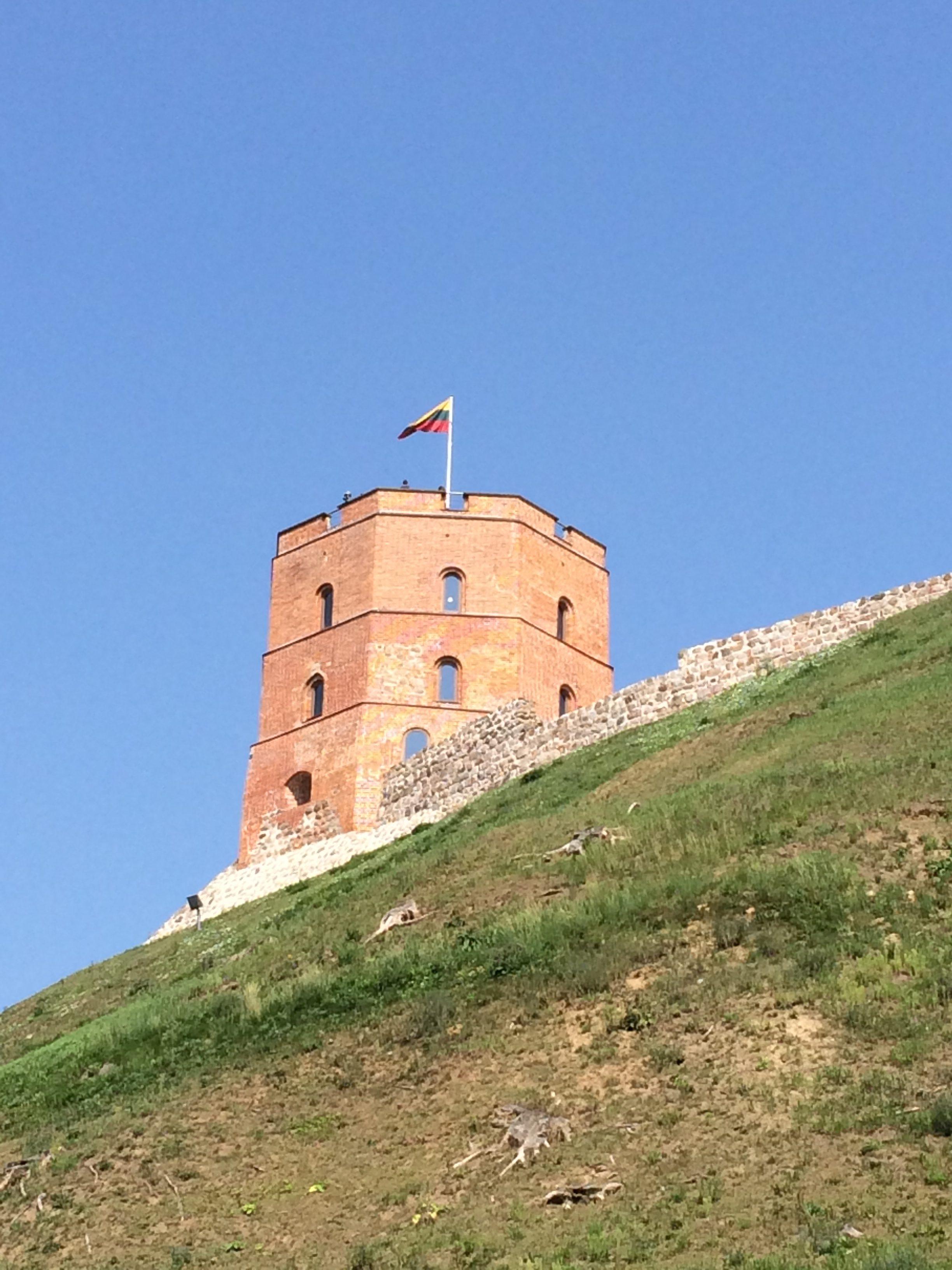 ゲティミナス城が見えてきた