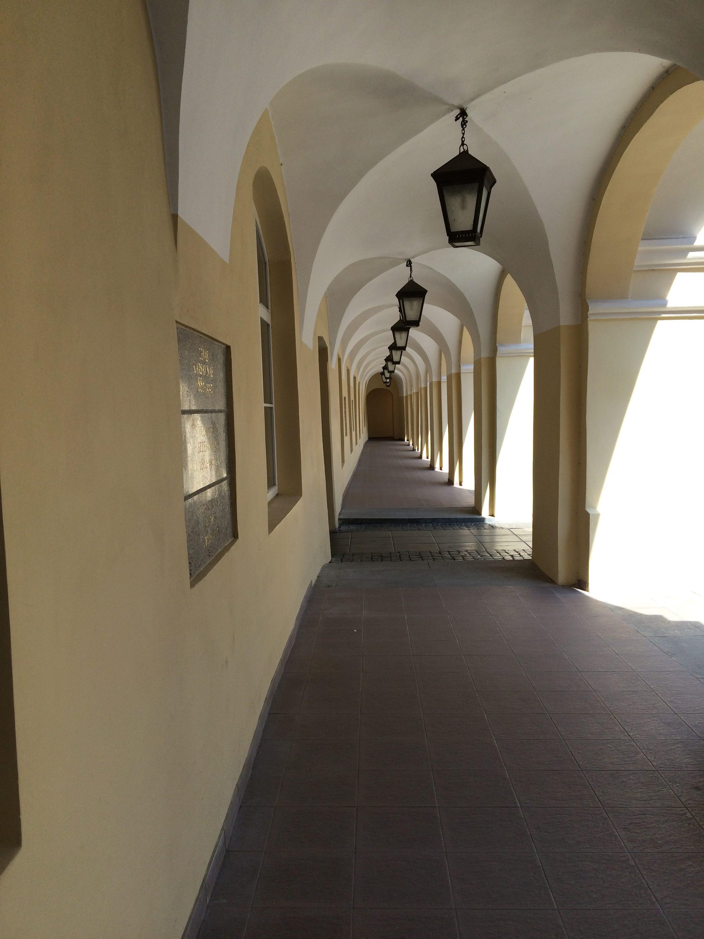 ヴィリニュス大学の廊下