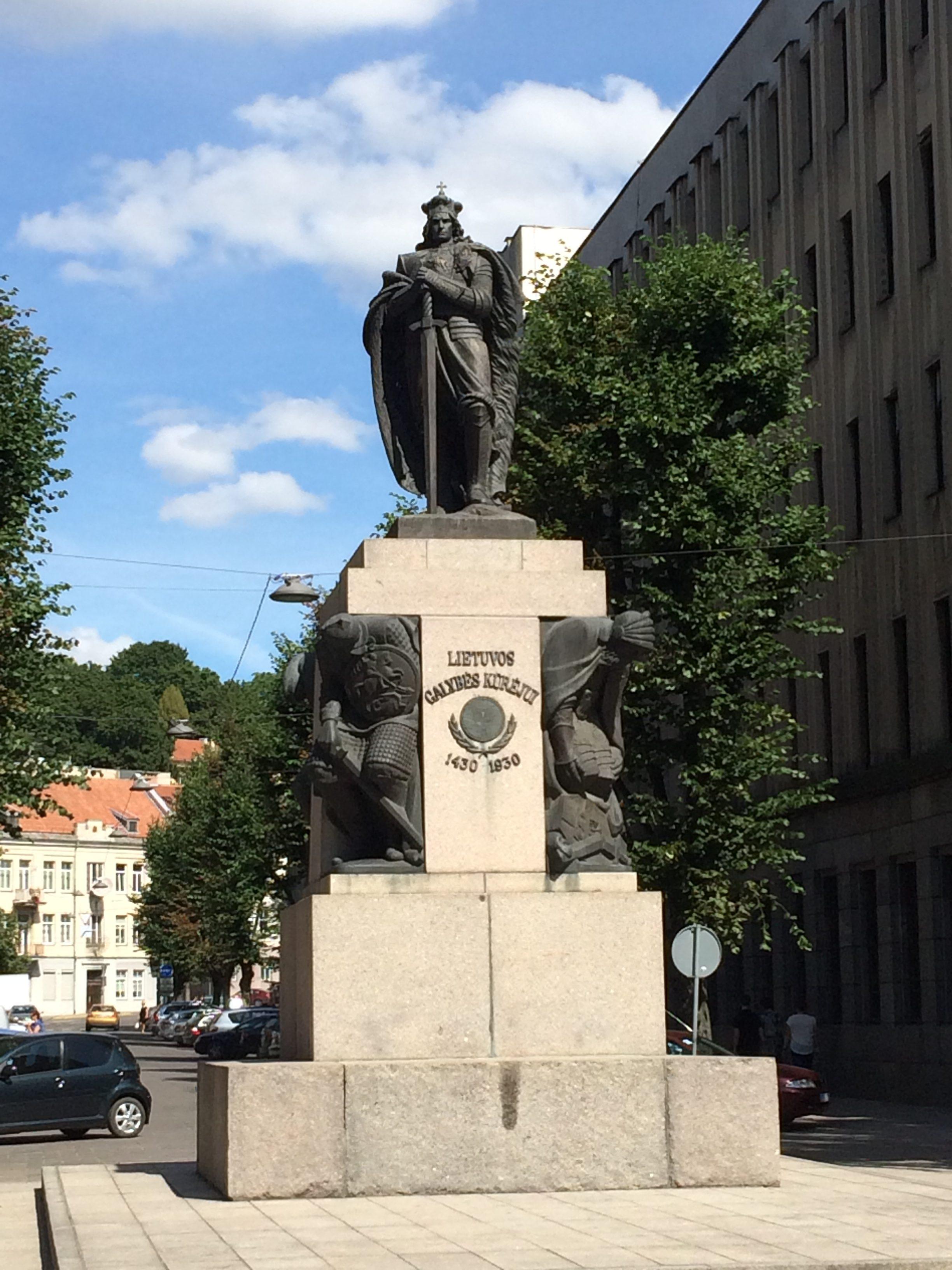 リトアニア大公国の公ヴィタウタスの銅像