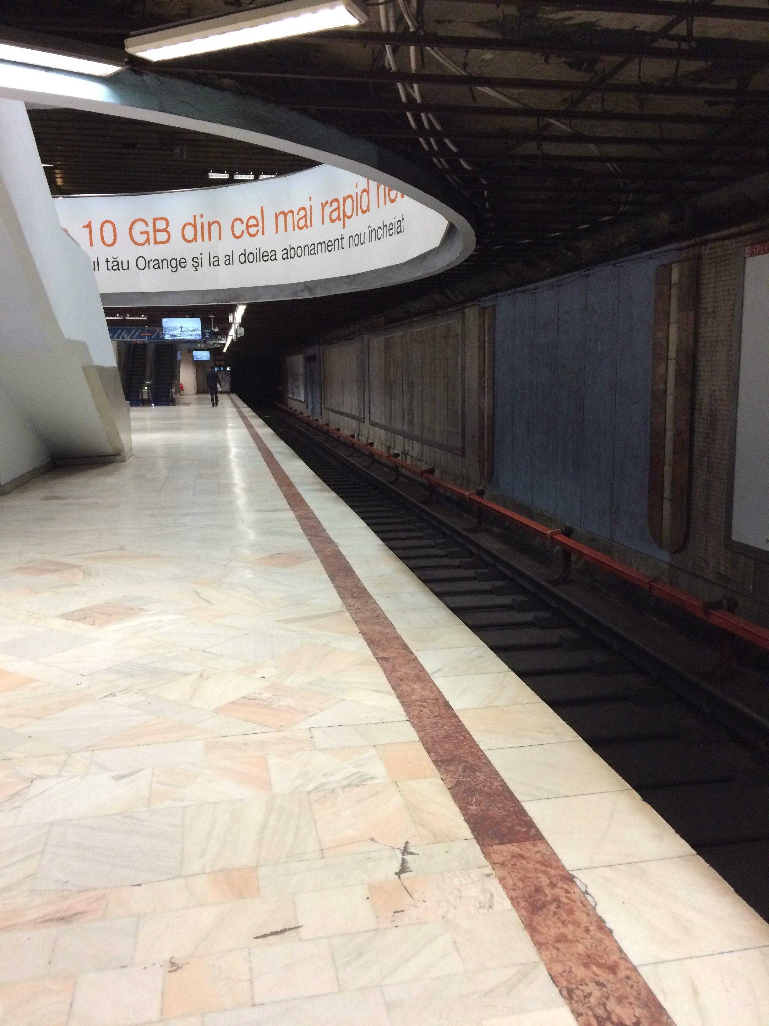 ブカレストの地下鉄の中
