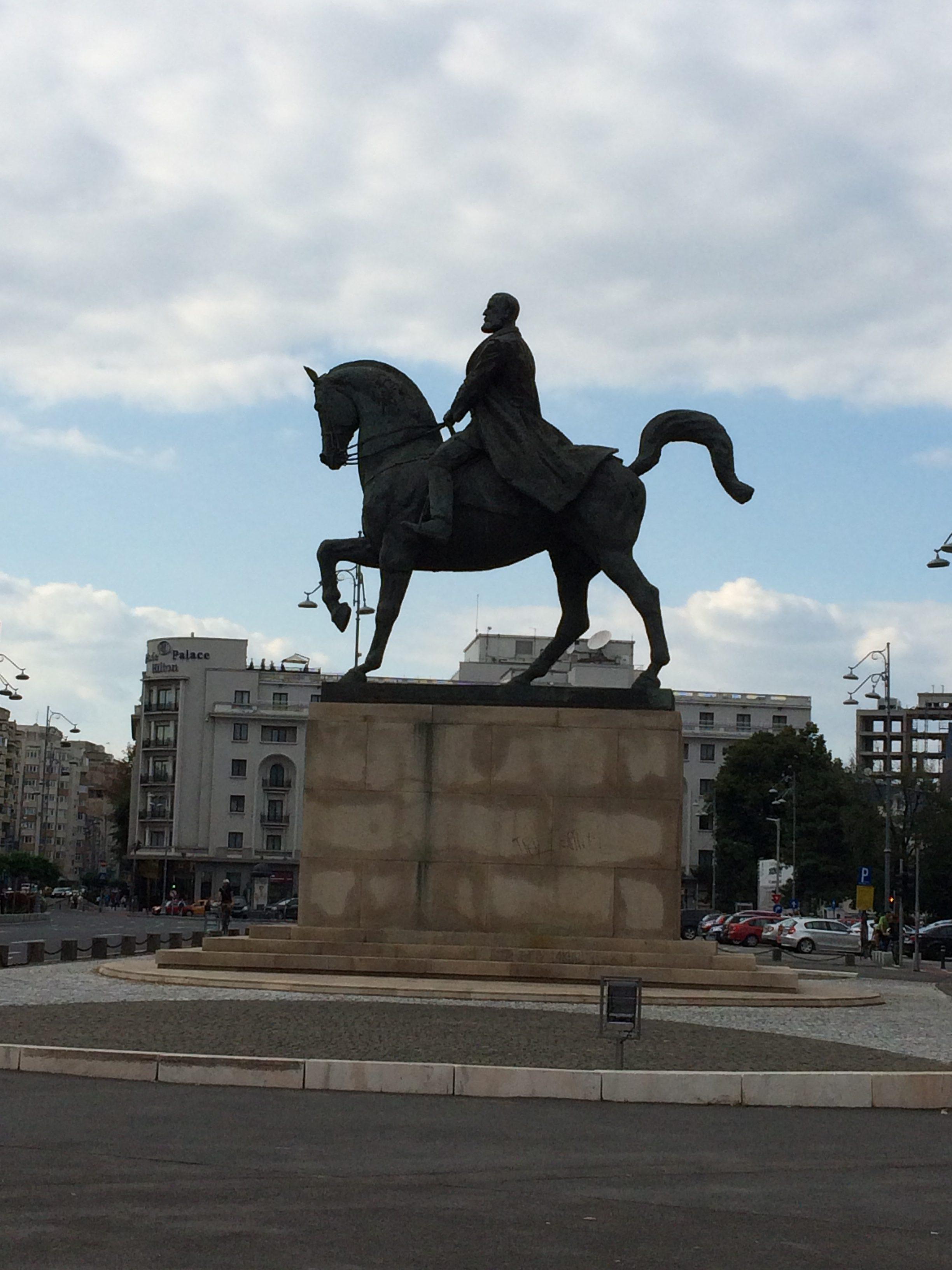 カロル1世の騎馬像