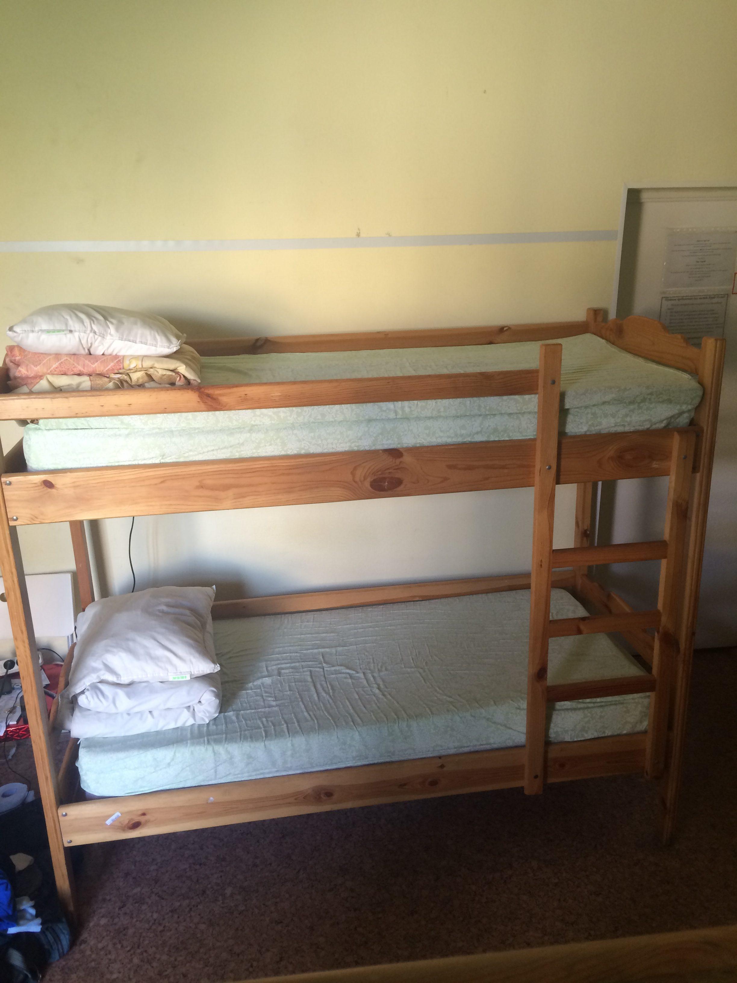 宿泊したホステルの部屋の写真