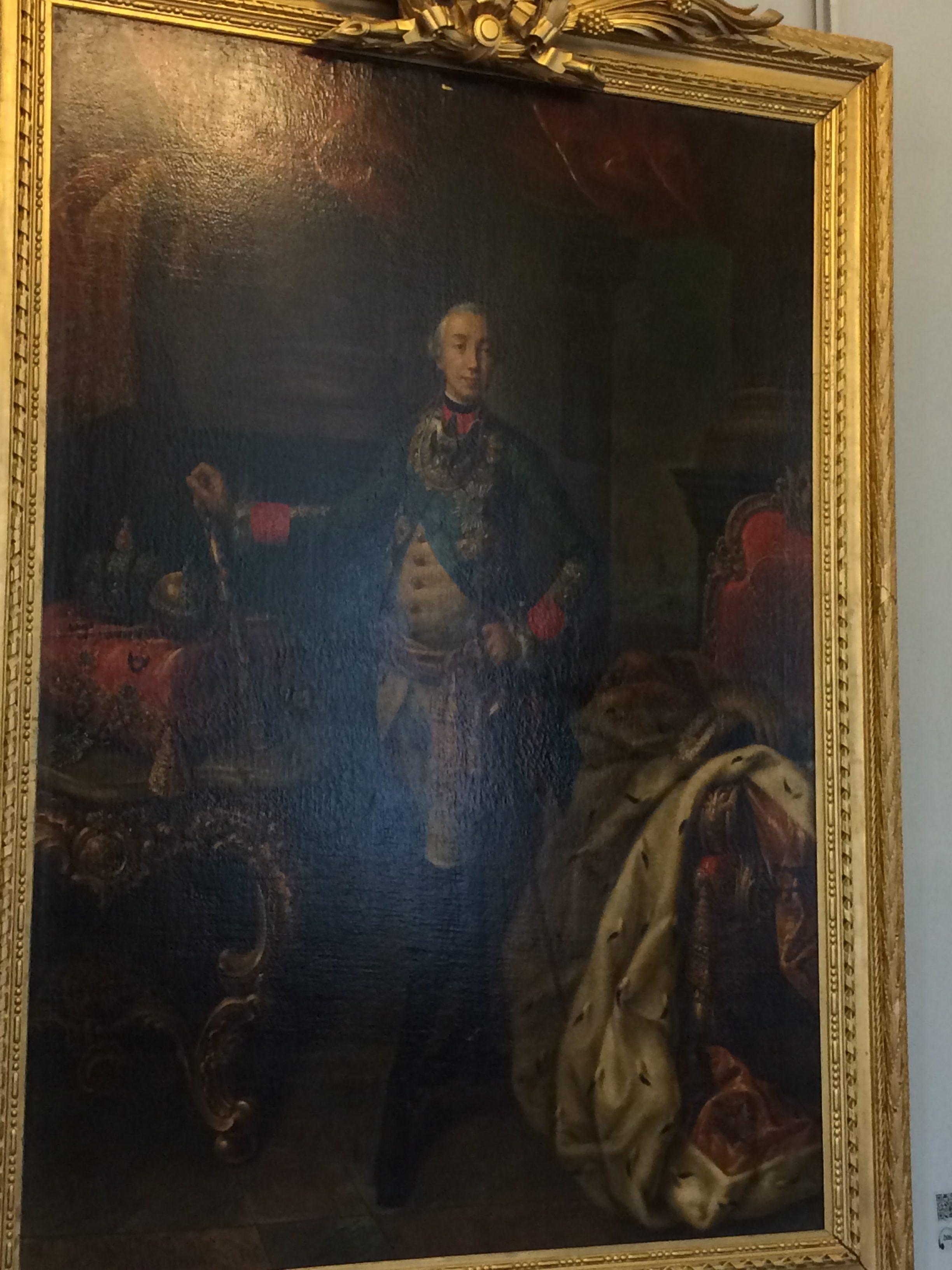 ピョートル三世の全身肖像画